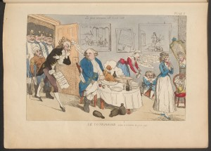Louis XVI, A Passion for Paris by David Downie, Paris food, French caricature