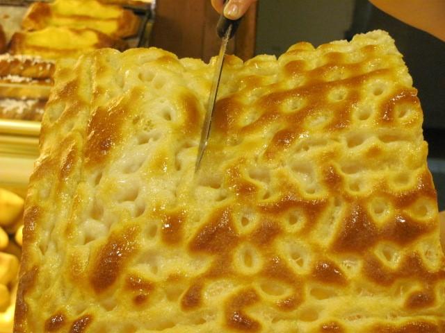 Genoese or Ligurian focaccia, Daria Vinci's favorite snack, photo copyright Alison Harris